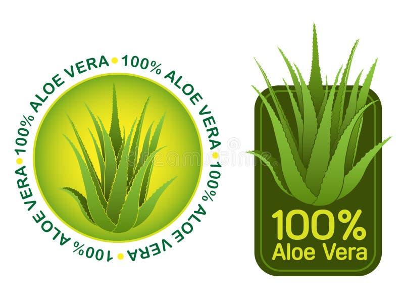 Sceaux de Vera 100% d'aloès illustration libre de droits