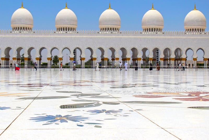 Sceicco Zayed Grand Mosque immagine stock libera da diritti