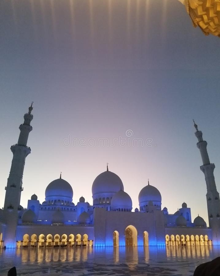 Sceicco Zayed Mosque Abu Dhabi immagine stock