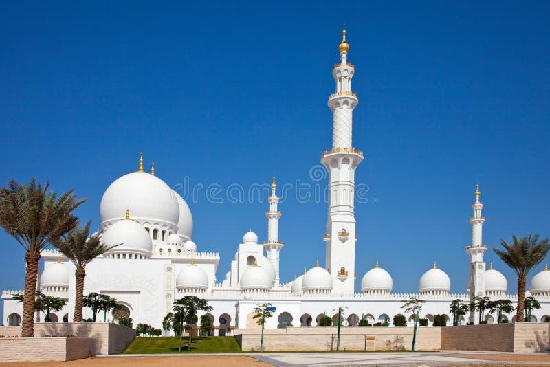 Sceicco Zayed Mosque nell'Abu Dhabi immagini stock libere da diritti