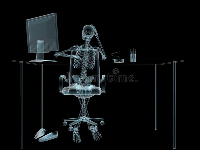 Sceleton do raio X ilustração do vetor