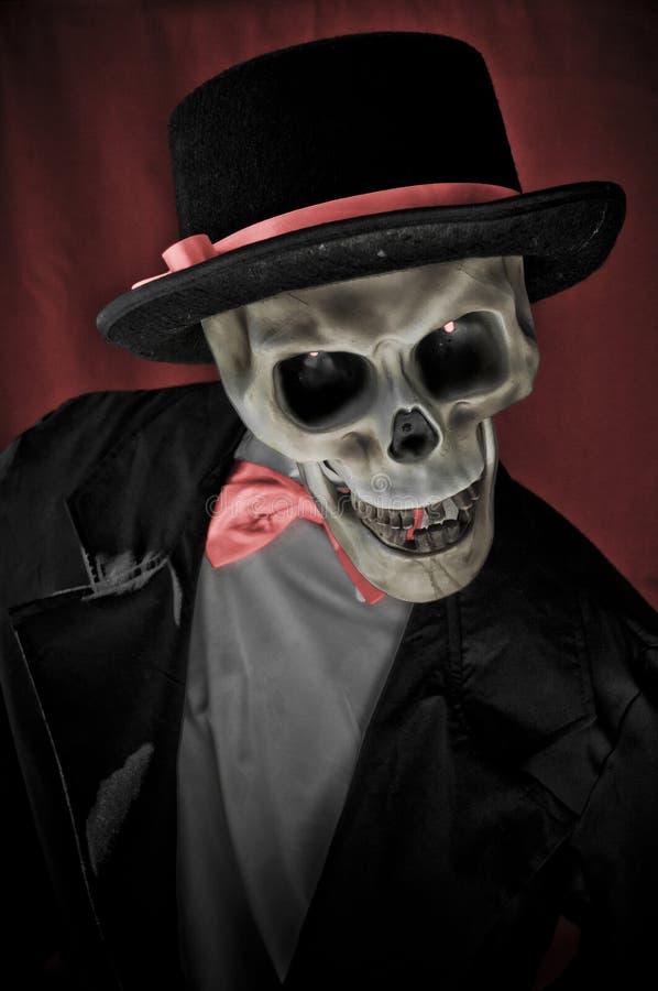 Sceleton no retrato da série imagens de stock royalty free