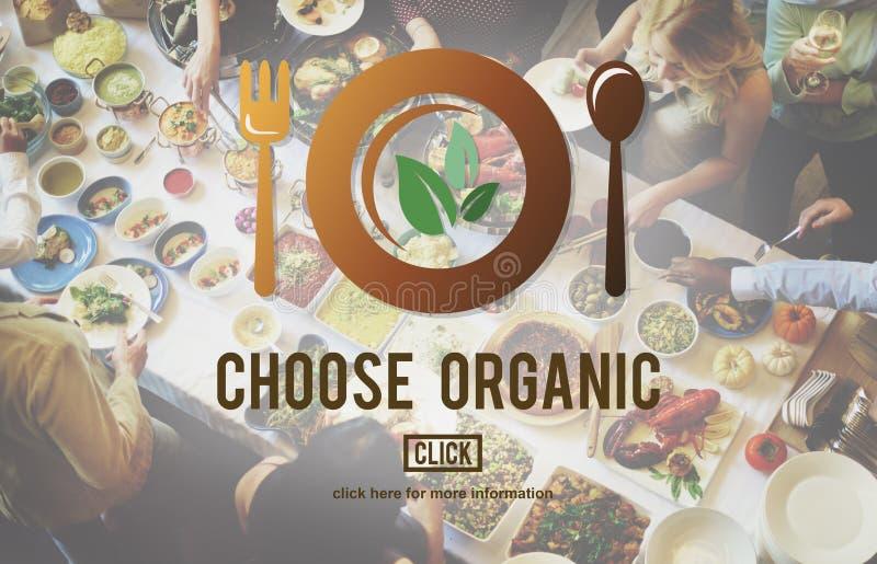 Scelga il concetto sano organico di nutrizione fotografia stock