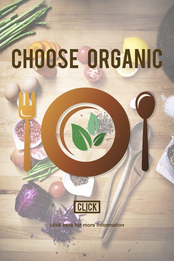 Scelga il concetto sano organico di nutrizione fotografia stock libera da diritti