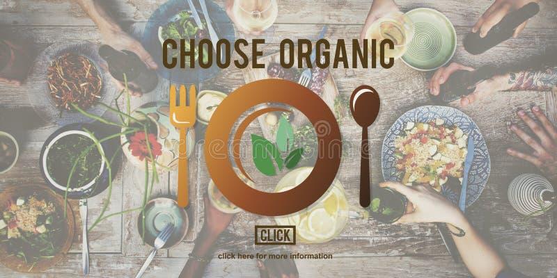 Scelga il concetto sano organico di nutrizione immagini stock