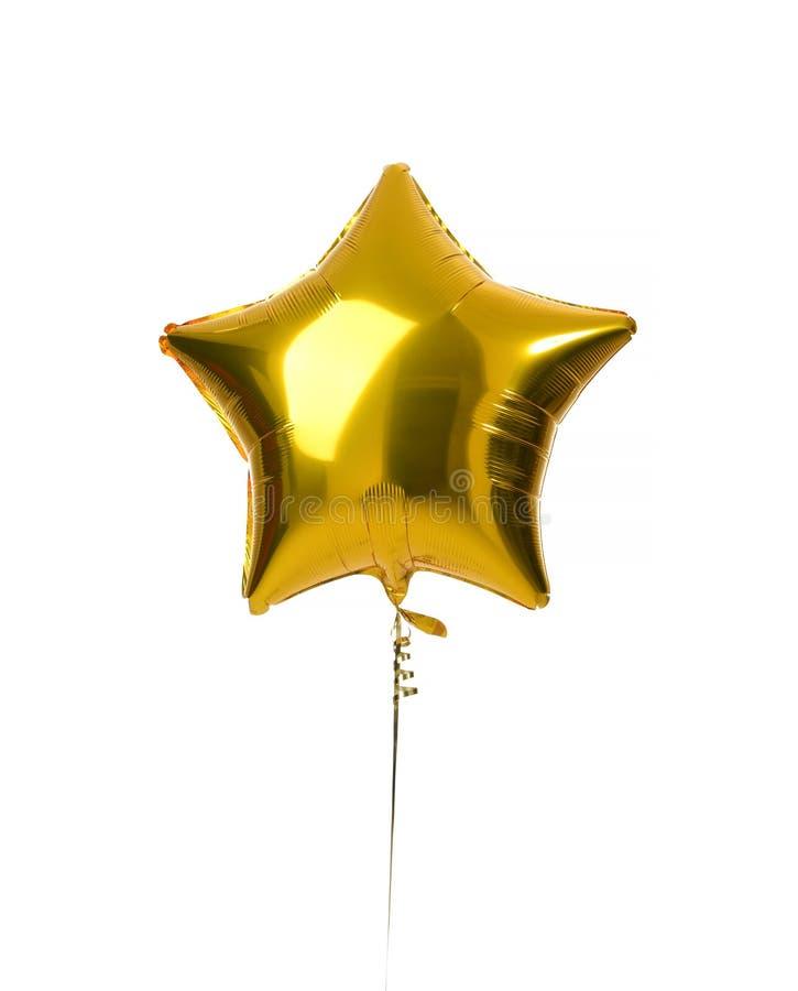 Scelga il grande oggetto del pallone della stella d'oro per la festa di compleanno immagini stock