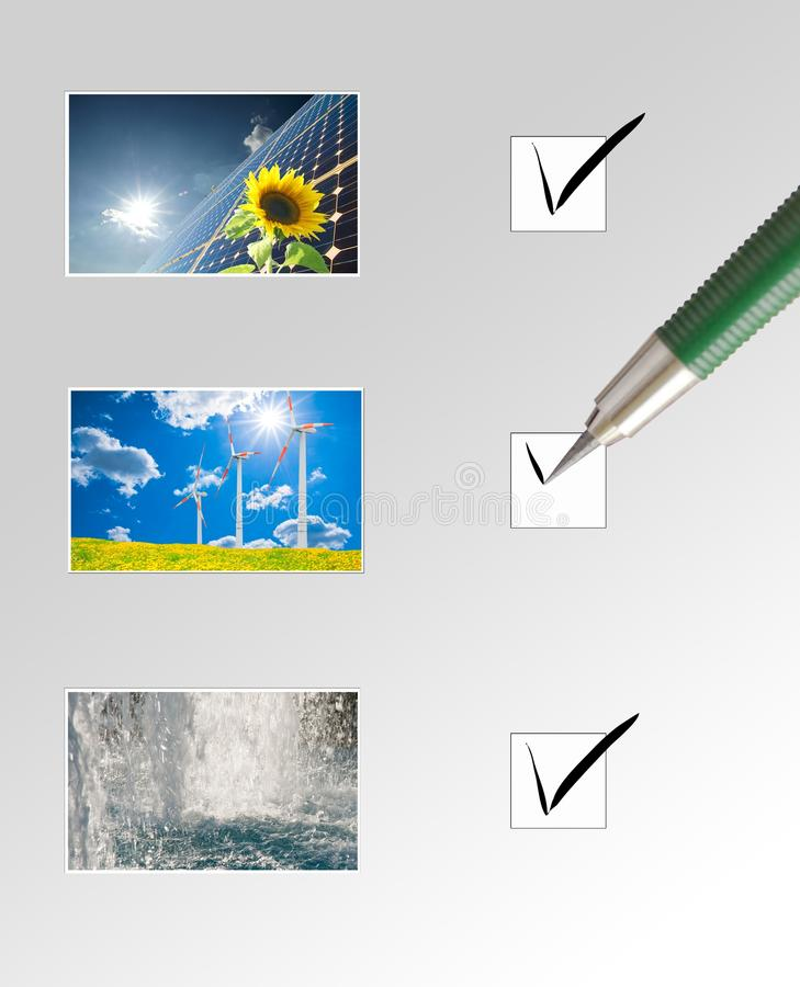 Scelga l'energia naturale illustrazione vettoriale