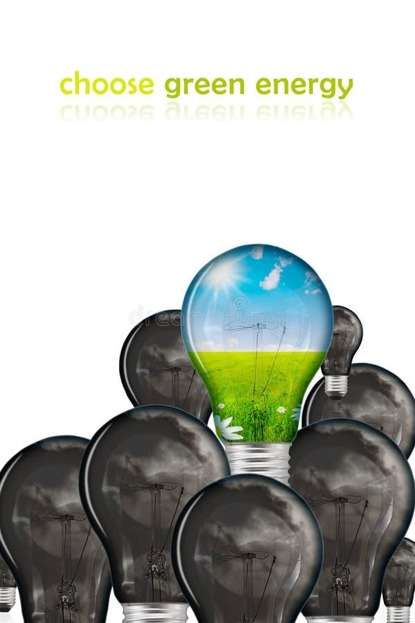 Scelga l'energia verde illustrazione di stock