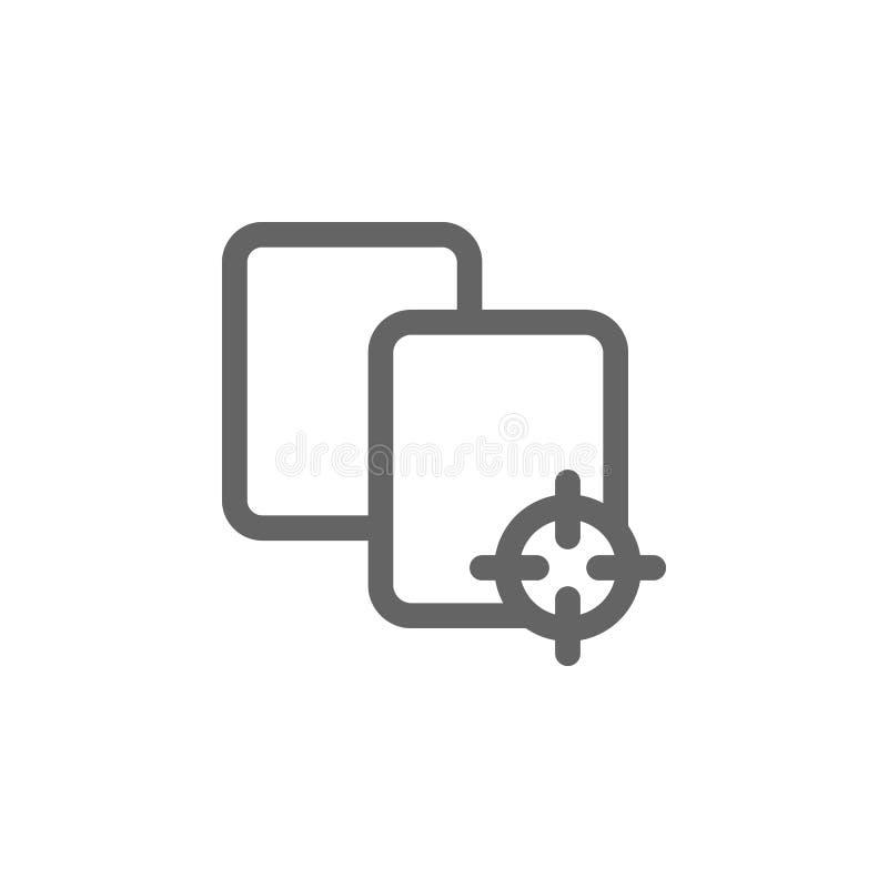 Scelga l'icona del documento della cartella Elemento dell'icona semplice royalty illustrazione gratis
