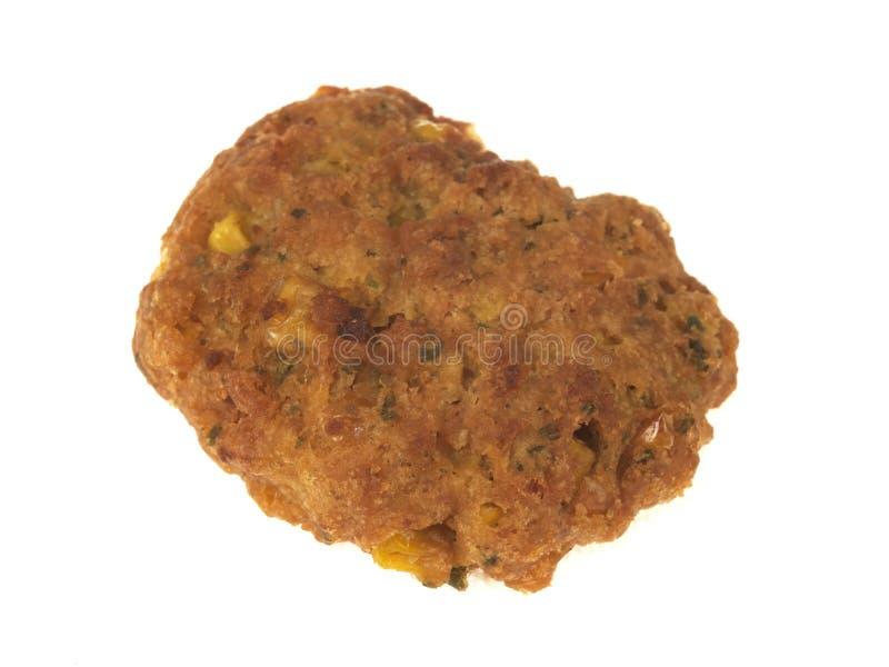 Scelga la frittella ripiena di cereale fritta nel grasso bollente fotografie stock