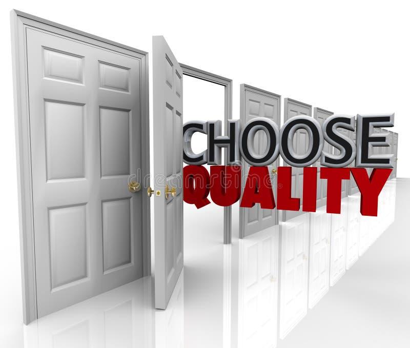 Scelga la qualità molti portelli Choice royalty illustrazione gratis