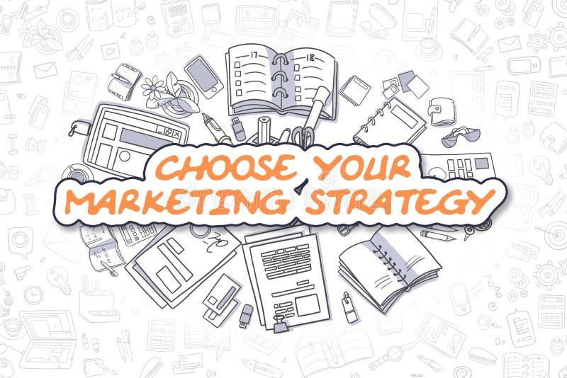 Scelga la vostra strategia di marketing - concetto di affari illustrazione di stock