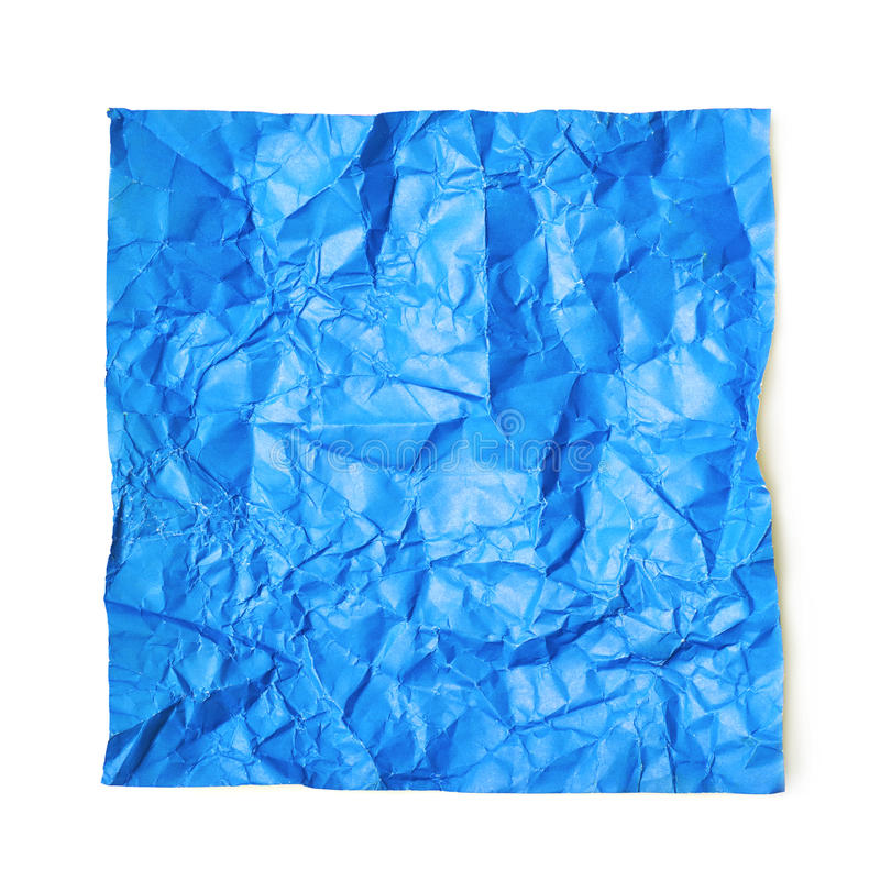 Scelga lo strato di carta sgualcito isolato fotografia stock