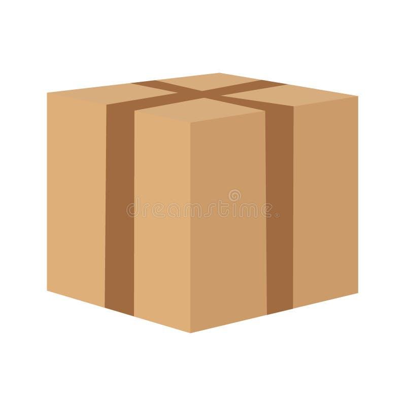 Scellez la boîte en carton pour se déplacer illustration libre de droits