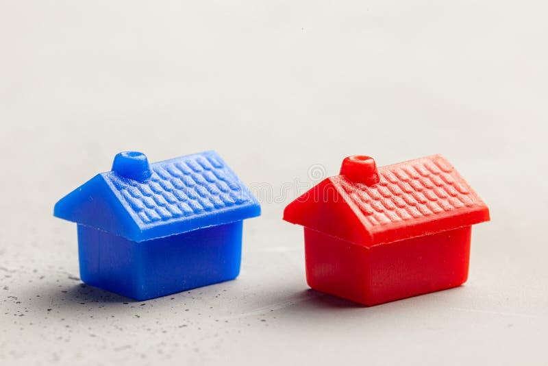 Scelta del bene immobile giusto per comprare o casa in affitto Come trovare nuova casa Copi lo spazio per testo fotografia stock