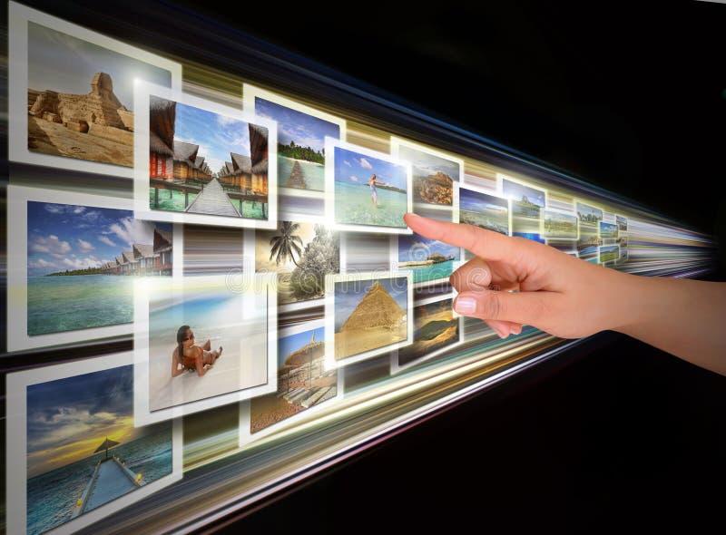 Scelta del visualizzatore digitale fotografia stock