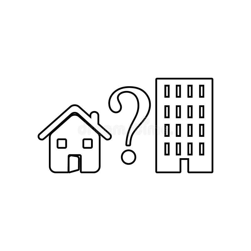 scelta dell'icona dell'appartamento o della casa Elemento dello zoo per il concetto e l'icona mobili dei apps di web Profilo, lin illustrazione di stock