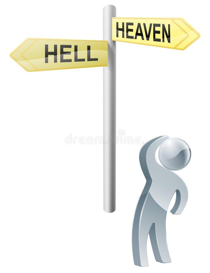 Scelta dell'inferno o di cielo illustrazione di stock