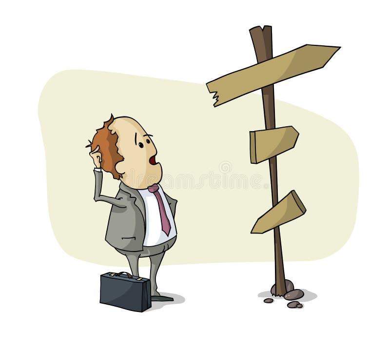 Scelta dell'uomo d'affari illustrazione di stock