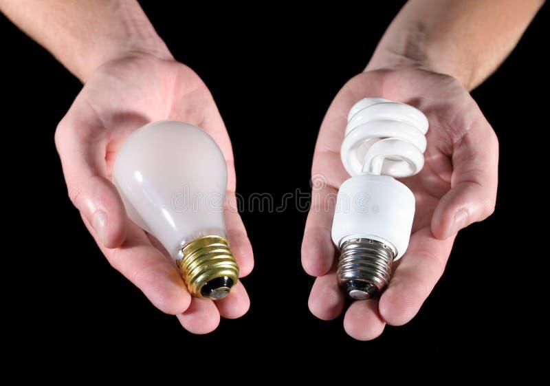 Scelta della lampadina immagini stock