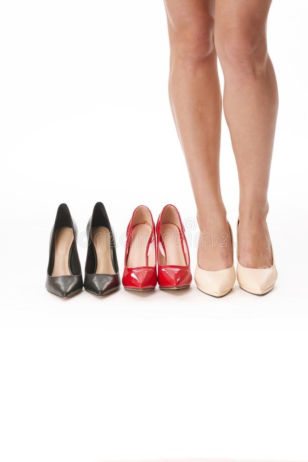 Scelta delle scarpe per il giorno immagine stock libera da diritti