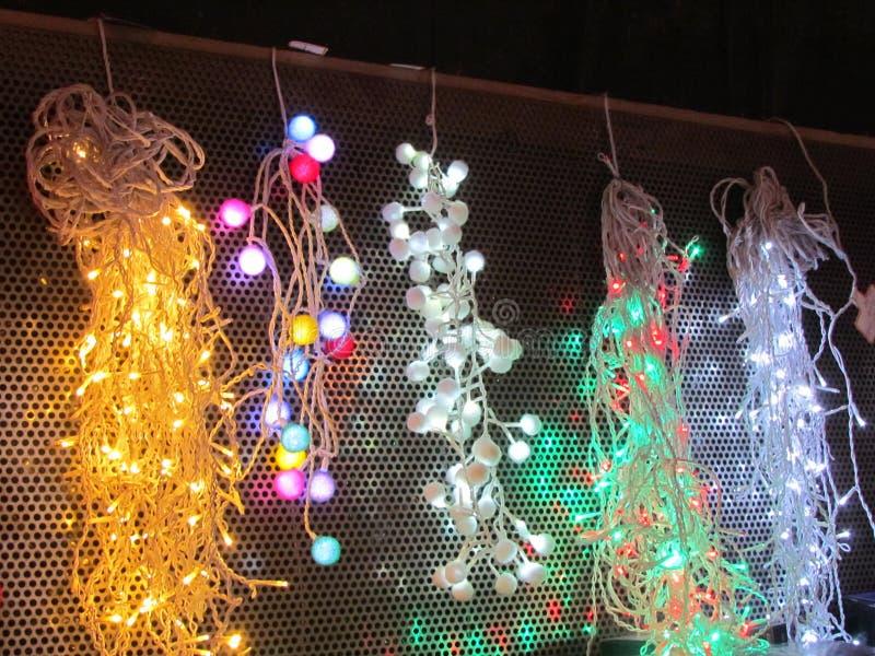 Scelta di ardore delle luci di Natale fotografie stock libere da diritti