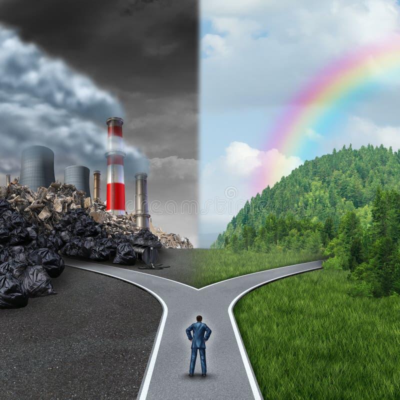 Scelta di clima illustrazione di stock