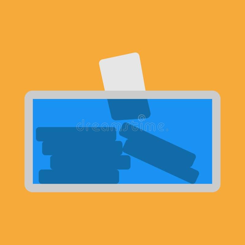 Scelta di voto dell'icona di vettore di elezione dell'urna Presidente del candidato dell'urna di democrazia politico Bollettino s illustrazione vettoriale