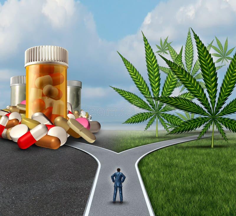 Scelta medica della marijuana illustrazione di stock