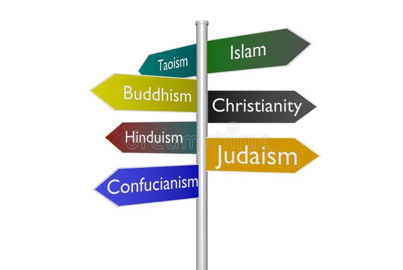 Scelte religiose illustrazione vettoriale