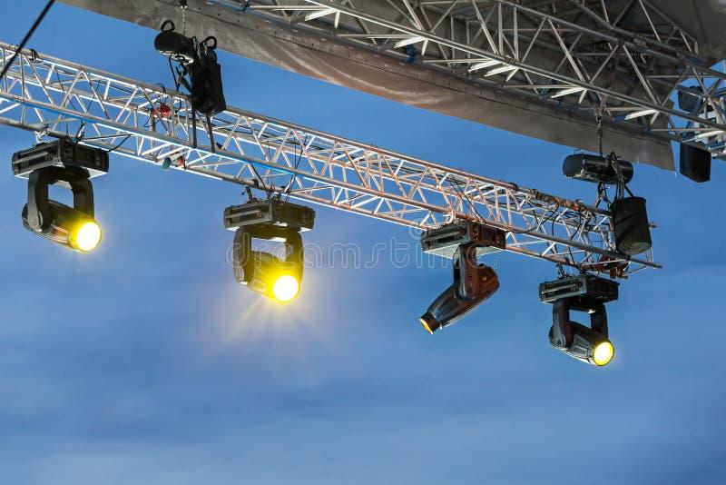 Scen światła na konsoli fotografia royalty free