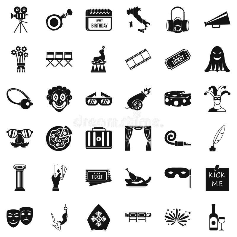 Scen ikony ustawiać, prosty styl ilustracji