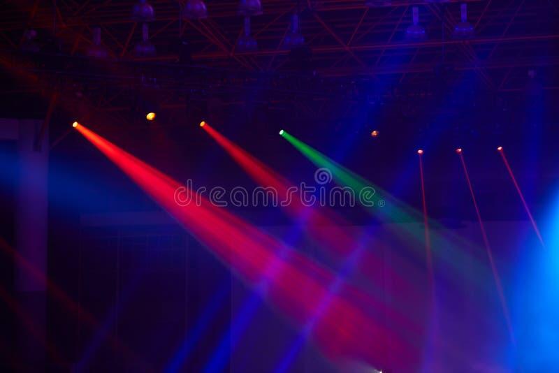 Scena, światło reflektorów, żarówki, światło fotografia stock