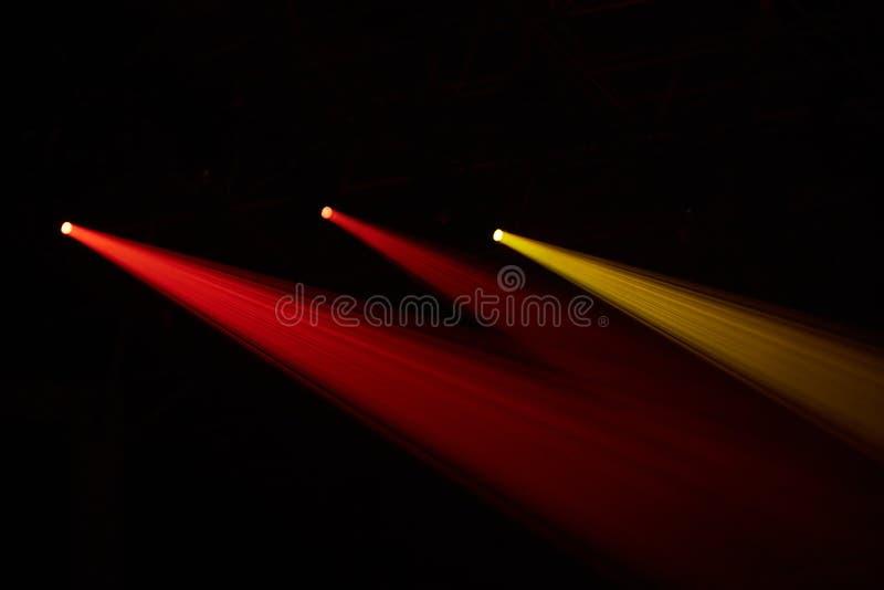 Scena, światło reflektorów, żarówki, światło zdjęcia stock