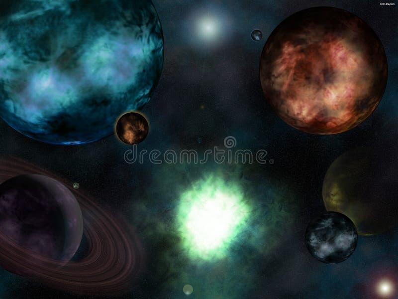 Scena 1 dello spazio illustrazione vettoriale