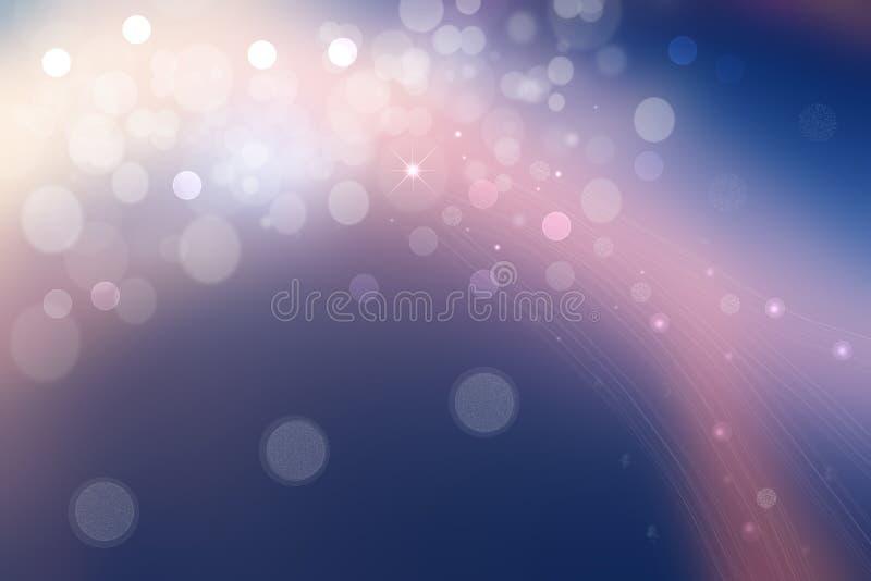 Scena abstrakcyjna we wszechświecie Abstrakcyjne gwiazdy eksplozyjne na gradiencie ciemnoniebieskim do jasnoniebieskiego i różowe zdjęcie stock
