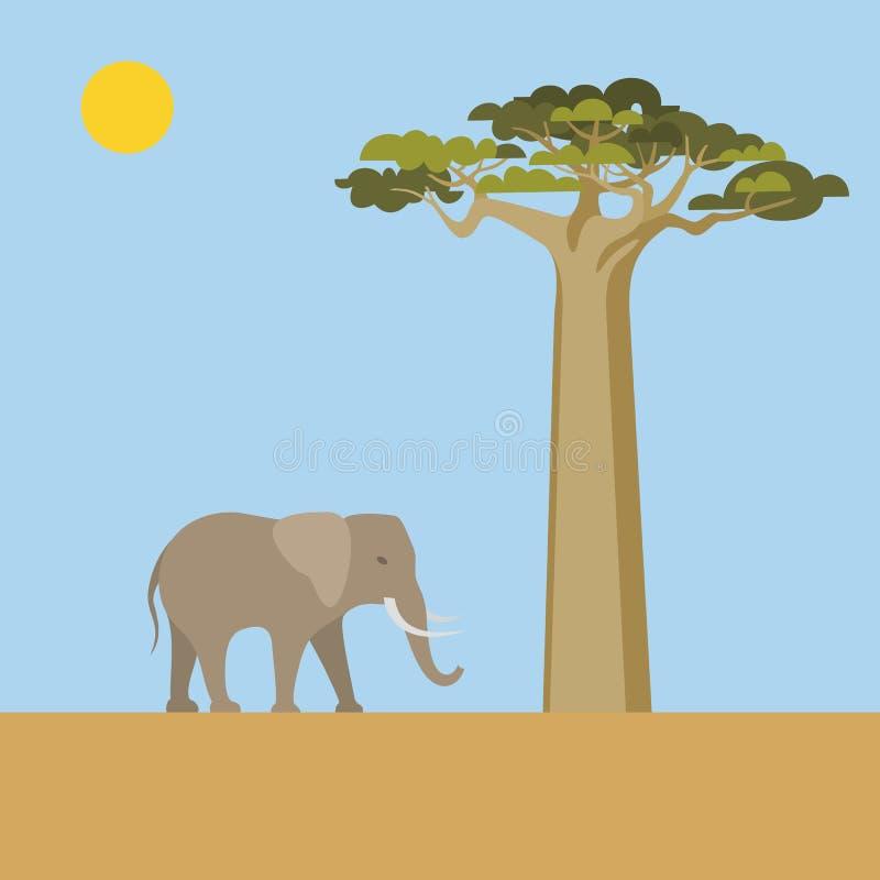 Scena africana illustrazione vettoriale
