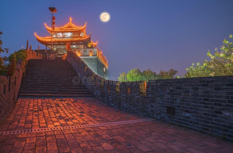 Scena antycznego miasta ściana Suzhou Chiny fotografia royalty free