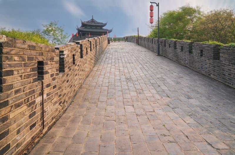 Scena antycznego miasta ściana Suzhou Chiny obraz royalty free