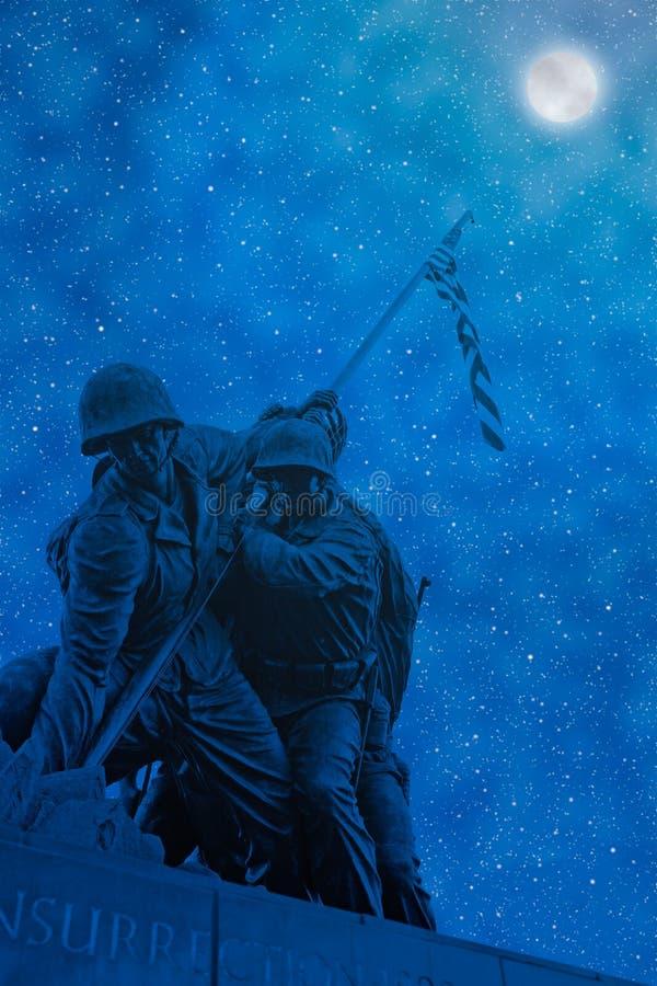 Scena artistica di notte di Iwo Jima fotografia stock