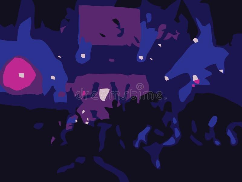 Scena astratta del partito di ballo di rave illustrazione di stock