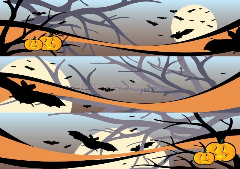 scena banner Halloween. ilustracji