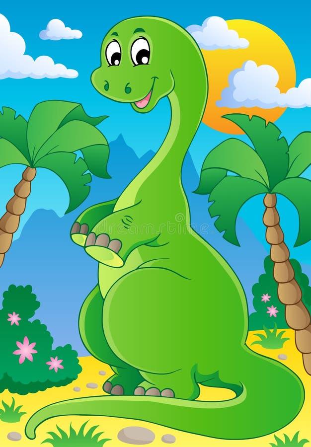 Scena con il dinosauro 2 royalty illustrazione gratis
