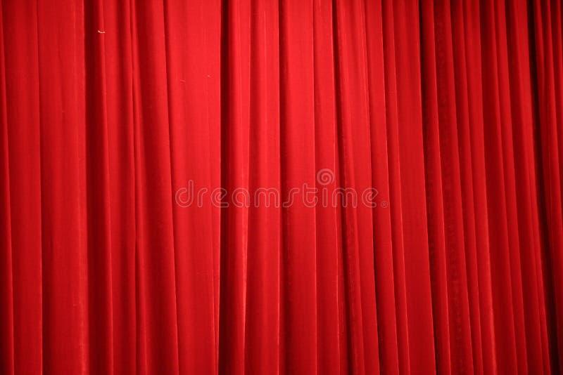 scena czerwona zasłony. obraz royalty free