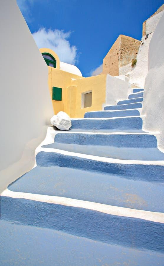 Scena dal villaggio di Oia sull'isola di Santorini fotografia stock