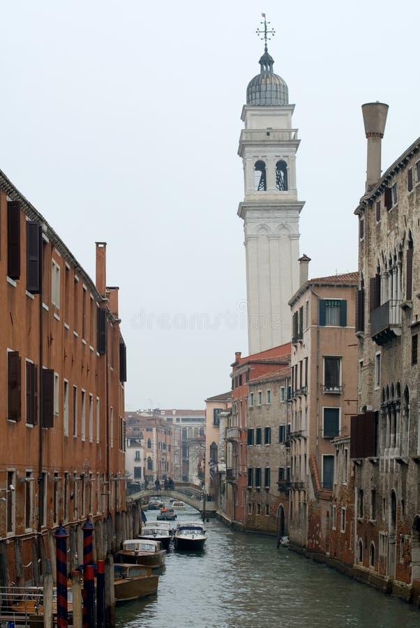 Scena del canale, Venezia, Italia fotografia stock