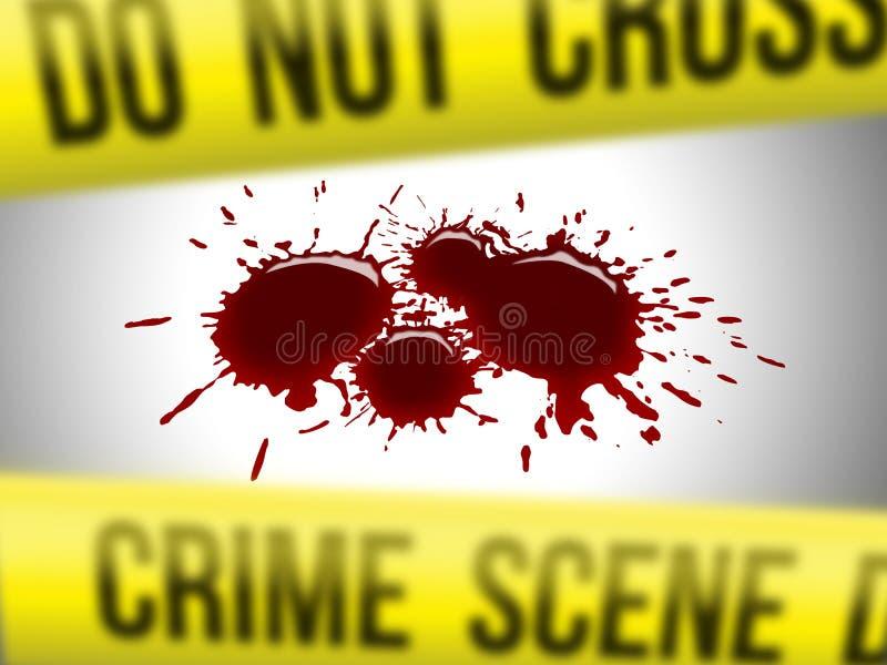 Scena del crimine 2 royalty illustrazione gratis