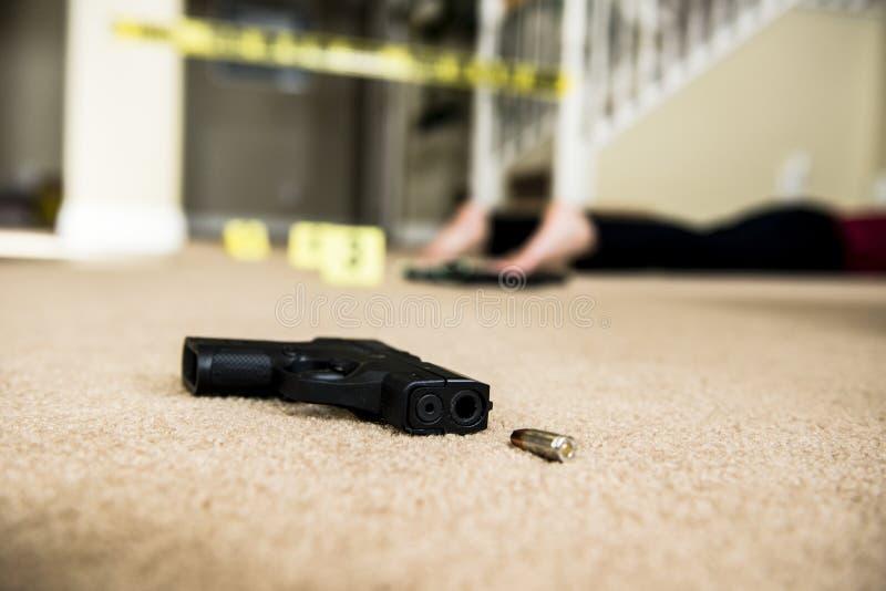 Scena del crimine immagine stock