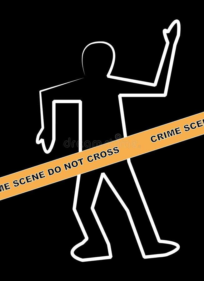 Scena del crimine illustrazione di stock