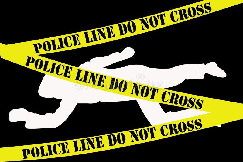 Scena del crimine illustrazione vettoriale